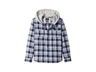 Quiksilver Snap Up Long Sleeve Hooded Shirt (Big Kids)