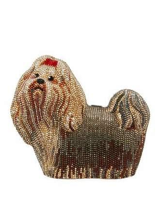 Judith Leiber Couture Charlie Yorkie Dog Perla Clutch Bag