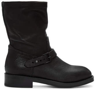 Rag & Bone Black Oliver Moto Boots