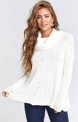 Show Me Your Mumu Overtop Turtleneck Sweater ~ Powder Knit