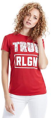 True Religion FLORAL FILLED TRUE WOMENS TEE