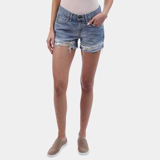Rag & Bone Distressed Boyfriend Short in Rye