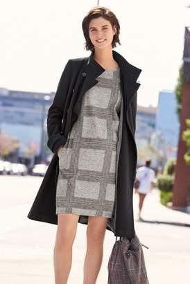 Next Womens Black Funnel Neck Coat