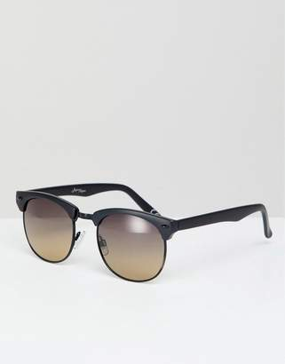 Jeepers Peepers retro sunglasses in black with gradient lens