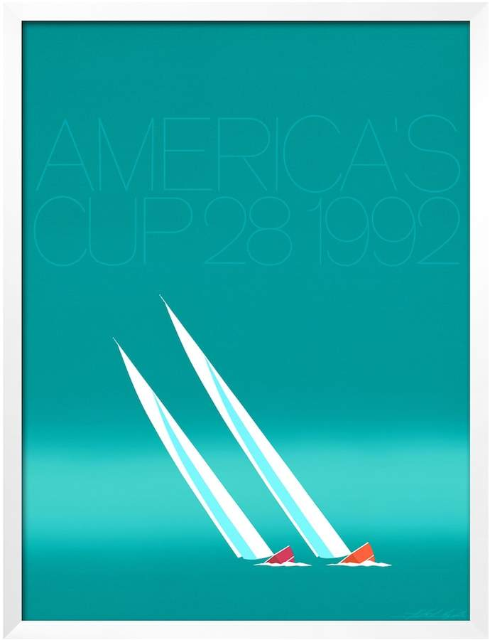 Art.com Duel ('92-Blue America's Cup) Framed Wall Art