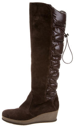 Moncler Moncler Geneve Knee-High Wedge Boots