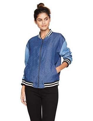 Levi's Women's Drop Shoulder Denim Bomber Jacket