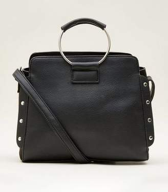 New Look Black Ring Handle Cross Body Bag