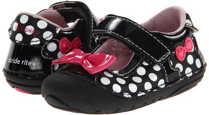 Stride Rite SRT SM Minnie Mouse (Infant/Toddler) (Black) - Footwear