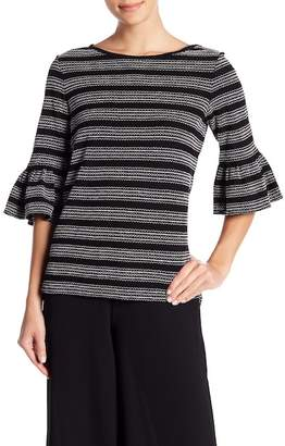 Max Studio Topstitched Bell Sleeve Shirt