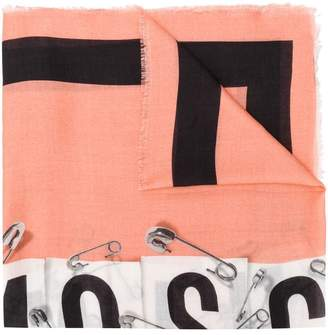 Moschino safety pins print scarf