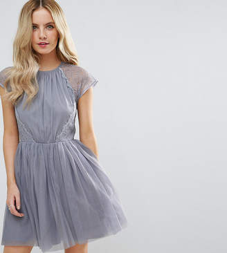 Asos PREMIUM Lace Tulle Mini Prom Dress