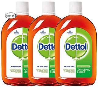 Dettol Antiseptic Liquid 16.90 oz (500ml) (Pack of 3)