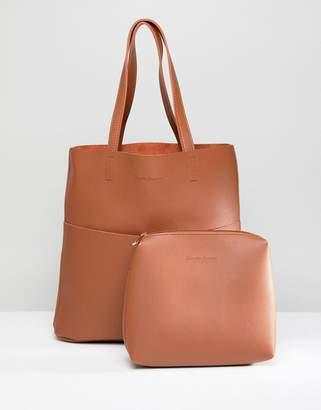 Claudia Canova Unlined Two Pocket Tote Bag
