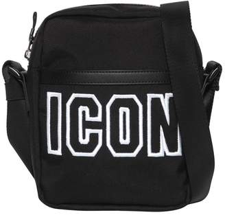 DSQUARED2 Icon Frame Tech Nylon Crossbody Bag