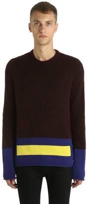 Kenzo Memento Color Blocked Wool Blend Sweater