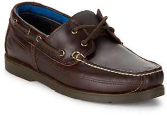 Timberland Timberland Piper Cove Moc-Toe Leather Boat Shoes