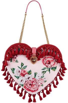 Dolce & Gabbana My Heart Embellished Crochet Bag
