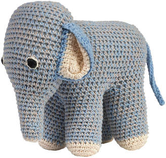 Anne Claire Crochet Elephant - Blue/Grey
