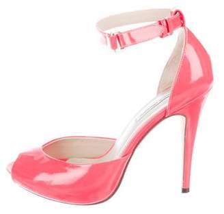 Katheryn Amberleigh Patent Leather Multistrap Sandals