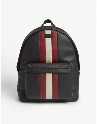 Bally Hingis Trainspotter grained leather backpack