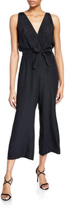 beee94e34486 Amanda Uprichard Gunnar Sleeveless Cropped Silk Jumpsuit