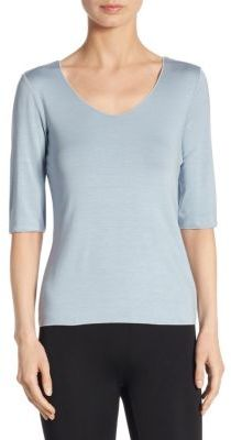 Armani Collezioni Elbow-Sleeve Tee $345 thestylecure.com