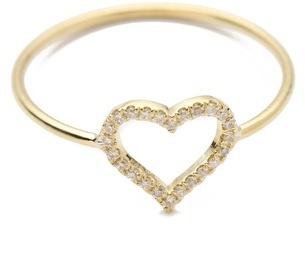 Jennifer Meyer Jewelry Diamond Open Heart Ring