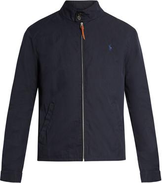 POLO RALPH LAUREN Logo-embroidered Harrington jacket $155 thestylecure.com