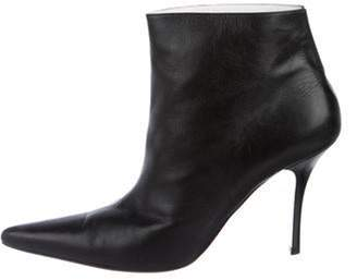 Celine Leather Ankle Boots Black Leather Ankle Boots