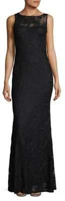 Karl Lagerfeld Paris Sleek Lace Gown