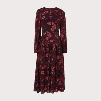 LK Bennett Julisa Red Silk Dress