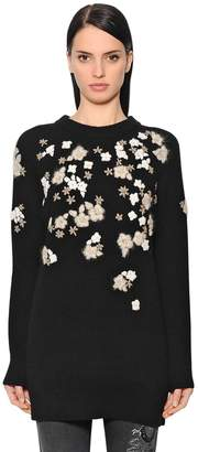 Ermanno Scervino Floral Wool & Cashmere Knit Sweater