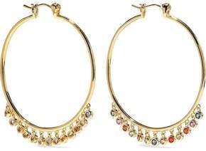Noir San Felipe 14-Karat Gold-Plated Crystal Hoop Earrings