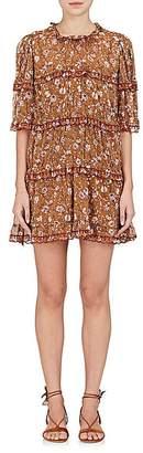 Etoile Isabel Marant Women's Maiwenn Floral-Print Cotton Gauze Minidress