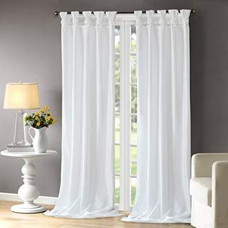Madison Home USA Emilia Room-Darkening Curtain DIY Twist Tab Window Panel Black Out Drapes for Bedroom and Dorm