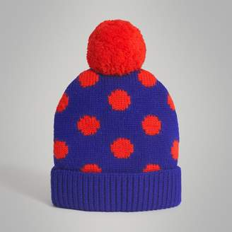 Burberry Polka Dot Wool Turnback Beanie
