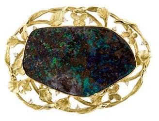 Boulder Opal & Diamond Pendant Brooch