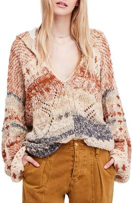 Free People In My Arms Chunky Hooded Sweater