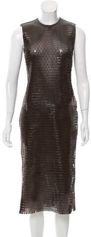 Christian Dior Leather Midi Dress