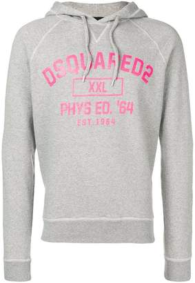 DSQUARED2 XXL PHYS ED '64 printed hoodie