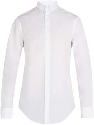 Giorgio Armani Press stud-collar cotton shirt