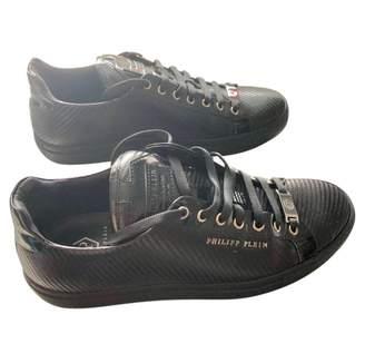 Philipp Plein Black Leather Trainers