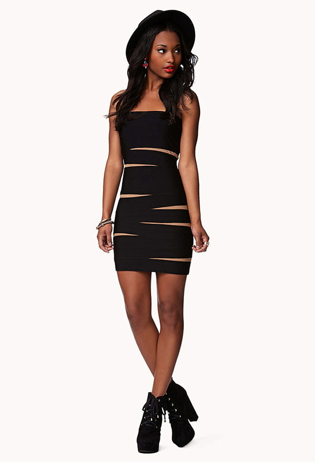 Forever 21 Tiger-Striped Bodycon Dress