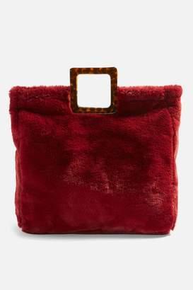 Topshop Freddy Square Faux Fur Tote Bag