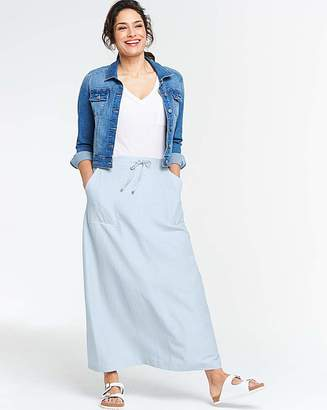 Marisota Petite Easy Care Linen Mix Maxi Skirt