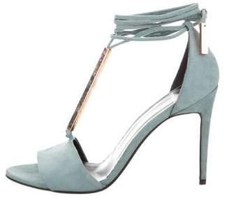 Pierre Hardy Suede Wrap-Around Sandals