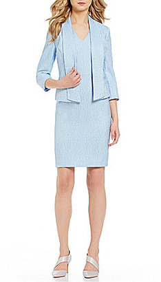 Albert Nipon Textured Novelty Dress Suit $395 thestylecure.com