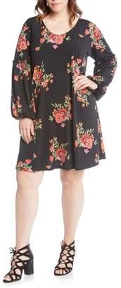 Karen Kane Taylor Smocked Sleeve Dress