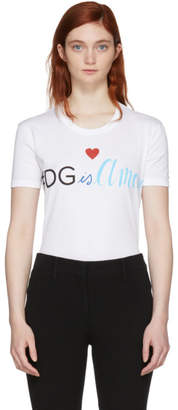Dolce & Gabbana White Is Amore T-Shirt
